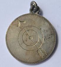1903 Imperial Russia Finland Solid Silver SHOOTING Medal Badge Award