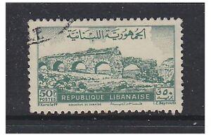 Lebanon - 1948, 50p Aqueduct stamp - Used - SG 372