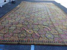 ANTIQUE EUROPEAN SPANISH PALACE SIZE RUG HAND WOVEN 30' X 15'