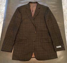 NWT Hart Schaffner Marx Nordstrom New York Brown Plaid Sportcoat Blazer 40R $695