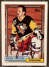 1992-93 Topps BRYAN TROTTIER SIGNED IN PERSON AUTO Autographed Card w/ COA