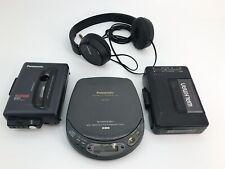 Sony Walkman + Panasonic Personal Cd Tape Player Bundle + Sony Headphone