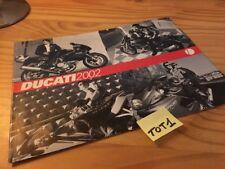 Ducati 2002 poster 998 748 900SS 750 ST2 ST4S Monster   moto prospectus brochure