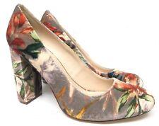 Women's Nine West Leroux Pump floral velvet textile sz 7.5 square heel