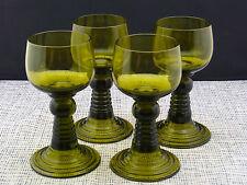 4 schöne alte Römer Waldglas