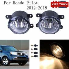 New Pair of H11 55W Clear Lens Bumper Fog Light Lamp RH LH For Honda Pilot 12-18