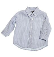 Girandola Baby Boys Shirt Blue Size 18 Months Plaid Long Sleeve Button Down NEW