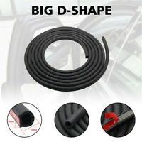 20ft 6M Edging Trim D Strip Car Body Profile Door Foam Self Adhesive Seal Rubber