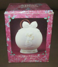 """Enesco Precious Moments 1991 3rd. issue """"May Your Christmas Be Merry"""" Ornament"""