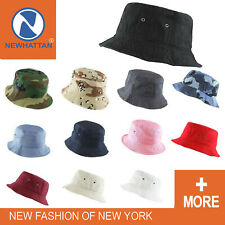 ORIGINAL NEWHATTAN MEN & WOMEN'S 100% COTTON FISHING BUCKET HAT CAP  - S/M L/XL