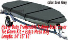 14 - 16 Aluminum Fishing Boat Cover Trailerable Iron Grey Color Tc11