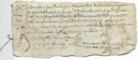 1663 LOUIS XIV royal notary autograph manuscript 2p nice signatures small thread