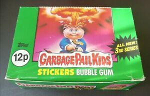 UK Garbage Pail Kids Series 3 Full Box ~ 48 Mint Packs ~ RARE