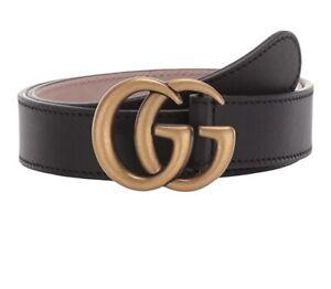 Gucci Marmont Kids Belt Sz. L NWT $265 Black