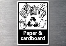 Recycling Paper & cardboard sticker 7 yr vinyl commercial industrial EPA