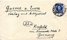 1949 Australia Surface Cover from Canberra to Krefeld Germany