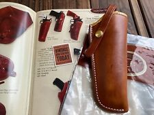 "El Paso Saddlery Brown Leather Lined Threepersons For Colt SA 5 1/2"" Revolver"