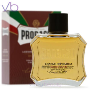 PRORASO Red After Shave Lotion, Sandalwood and Shea Butter, 100ml NEW