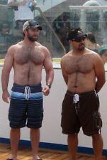 Shirtless Male Muscular Hunks Beefcake Hairy Chest Beards Men PHOTO 4X6 F1102