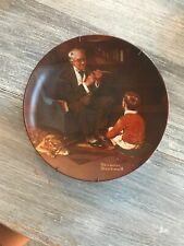 The Tycoon, Norman Rockwell Collector Plate With Plate Frame For Wall Hanging