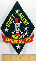 1st Reconnaissance Battalion Patch USMC Swift Silent Deadly Recon Military USMC