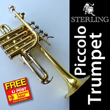 Sterling Pro Piccolo Trumpet • SWTR-377 • Bb • Monel Valves • Free Express •
