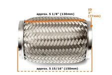 Universal 3 Zoll Flexrohr Flexstück Flammrohr Hosenrohr Auspuffrohr --76x150mm--
