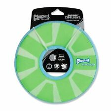Chuckit Zipflight Flying Frisbee Ring Glow in the Dark Fetch Game Dog Toy 21cm
