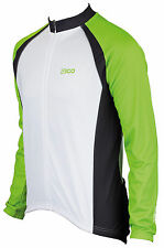 EIGO LOGIC LONG SLEEVE CYCLING JERSEY-THERMAL WINTER/SPRING ROAD/MTB GREEN