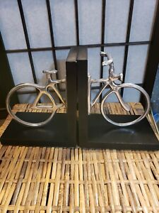 Modern Style Metal Bicycle Bookends - Bike