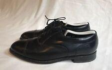 Florsheim Men's Lace up Cap Toe Black Leather Oxford Shoes - Size 9 D