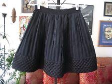 BETSEY JOHNSON sz 2 Black Pleated textured A-Line Tulle Petticoat Skirt