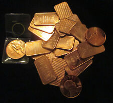 (1) RANDOM 1 oz. OUNCE COPPER .999 BAR OR COIN ROUND BULLION - CHANCE 4 SILVER 2
