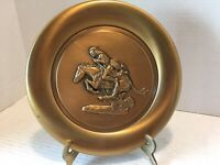 "Vintage Frederic Remington's ""The Cheyenne"" Bronze Plate"