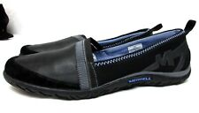 Merrell women's size 10 M Black loafers flat comfort shoes walking casual leathe
