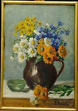 Tableau début 20ème Bouquet de Fleurs signature B. Bouche