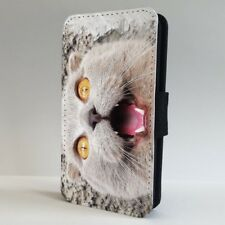 Cat Funny Face FLIP PHONE CASE COVER for IPHONE SAMSUNG
