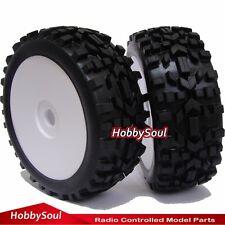 2pcs RC 1:8 All Terrain Buggy Tires Wheels Compatible HPI Pro-Line Badlands XTR