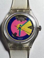 1993 Automatic Swatch Watch SAK109 Happy Wheels Great Cond