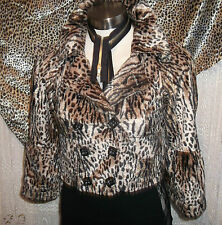size 8.faux fur leopardskin Evie jacket.silk lined