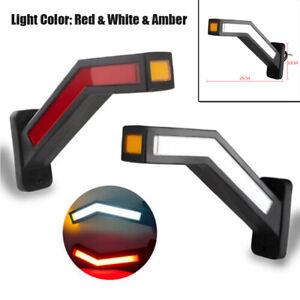 2PCS Car SUV 12V LED Side Marker Lights Outline Lamp Parts For Trailer Universal
