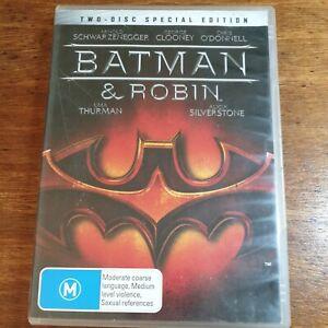 Batman & Robin DVD R4 LIKE NEW FREE POST