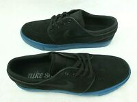 Nike Mens Zoom Stefan Janoski Suede Skate Shoes Black Blue Force Size 9 New