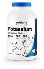 Nutricost Potassium Citrate 99mg, 500 Capsules - Gluten Free & Non-GMO