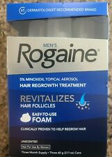 Men's Rogaine 5% Minoxidil Hair Regrowth Treatment Foam 3 Months Supply 01/2021