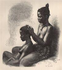 Women of Grand Bassam. Côte d'Ivoire. Ivory Coast 1885 old antique print