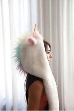 Halloween Winter Warm Unicorn Costume Plush Hat earmuffs gloves 1set hot sale A+