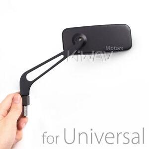 MIRROR CONVEX CNC aluminum CLASSIC BLACK fits HD softail dyna v-rod sportster