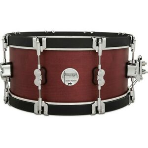"""PDP by DW Concept Classic Snare Drum Wood Hoops 14 x 6.5"""" Ox Blood/Ebony Hoop LN"""