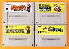 MARIO COLLECTION RPG KART 4set Nintendo Super Famicom SNES FREE Shipping USED #G
